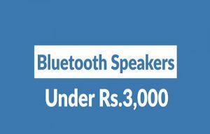 Top 10 Best Bluetooth Speakers under 3000 In india
