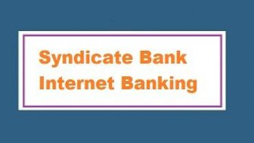 Syndicate bank internet banking registration