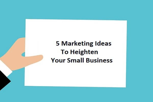 5 Marketing Ideas To Heighten Your Small Business