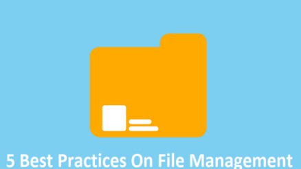 5 Best Practices On File Management