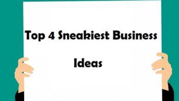 Top 4 Sneakiest Business Ideas